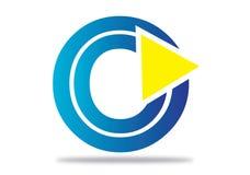 Logobeståndsdelar med pilen - alfabetbokstavsnolla Royaltyfria Bilder