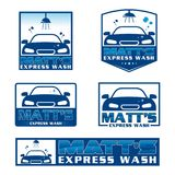 Express and modern car wash illustration vector. LogoCar Express and modern car wash illustration vector Stock Photo