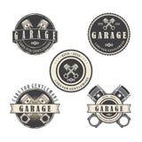 Garage for gentlemen logo vector. LogoCar Garage for gentlemen logo vector Stock Photo