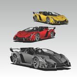 Luxury sport car colour illustration vector. LogoCar Luxury sport car colour vector illustration Royalty Free Stock Image