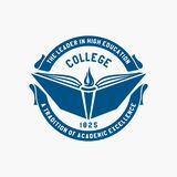 Logocollege Akademie, Universität, Schulemblem lizenzfreie abbildung