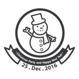 Logodesign för glad jul logo Royaltyfri Fotografi