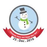 Logodesign för glad jul logo Arkivbilder