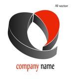 logodesign för hjärta 3d Royaltyfri Bild