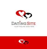 Logodesign für die Datierung der in Verbindung stehenden Website lizenzfreie abbildung