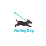 Logodesign für Hundedas gehen Stockbild