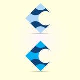 Logodesign-Formschablone des Buchstaben C Stockfoto
