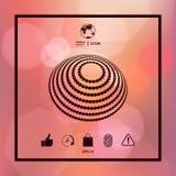 Logodesign - jordsymbol Arkivfoto