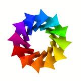 Logodesign med färgrika pilar vektor illustrationer