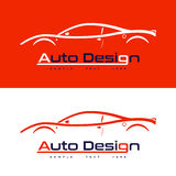 Logodesign mit Sportauto Stockbilder