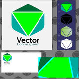 Logodesign mit Visitenkarteschablonen Lizenzfreie Stockfotografie