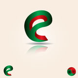 Logodesign-Schablonenelemente des Buchstaben E Stockfoto
