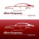 Logodesignauto stock abbildung