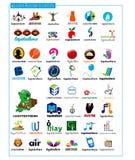 Logodesignbeståndsdelar Vektor Illustrationer