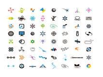 Logodesignbeståndsdelar för formgivare royaltyfri illustrationer