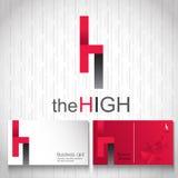 Logodesignnamnet är höjdpunkten Arkivbild