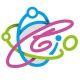Logoelementgesundheit, Bio Lizenzfreie Stockfotografie