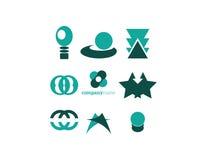 Logoelementsatzgrün Stockfotos