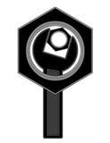 Logoen av bultarna och skiftnyckeln Arkivbild