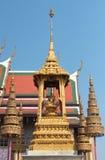 Logoen av den historiska konungen i templet av Emeraen royaltyfria bilder