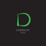 Logoen för bokstav D - ett symbol av din affär Arkivbilder