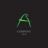 Logoen för bokstav A - ett symbol av din affär Royaltyfri Fotografi