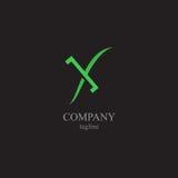 Logoen för bokstav X - ett symbol av din affär Fotografering för Bildbyråer