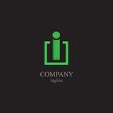 Logoen för bokstav I - ett symbol av din affär Royaltyfria Bilder