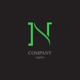 Logoen för bokstav N - ett symbol av din affär Arkivfoton