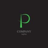 Logoen för bokstav P - ett symbol av din affär Arkivfoton