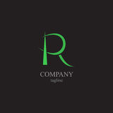 Logoen för bokstav R - ett symbol av din affär Arkivfoton