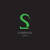 Logoen för bokstav S - ett symbol av din affär Arkivfoton