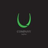 Logoen för bokstav U - ett symbol av din affär Arkivfoton