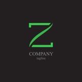 Logoen för bokstav Z - ett symbol av din affär Arkivfoto