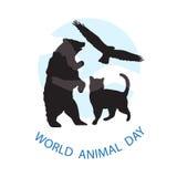 Logoen för världsdjurdagen Arkivbild