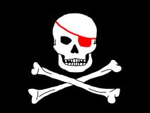 logoen piratkopierar Royaltyfria Bilder