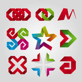 Logoer av bandet vektor illustrationer