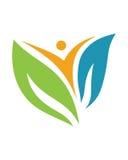 Logoer av den gröna symbolen för vektor för beståndsdel för bladekologinatur Arkivbild