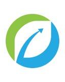 Logoer av den gröna symbolen för vektor för beståndsdel för bladekologinatur Arkivbilder