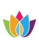 Logoer av den gröna symbolen för vektor för beståndsdel för bladekologinatur Royaltyfri Bild