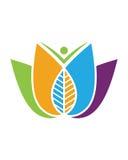 Logoer av den gröna symbolen för vektor för beståndsdel för bladekologinatur Royaltyfria Bilder