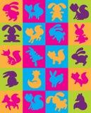 Logoer av djur Royaltyfri Fotografi