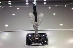 Logoer av Rolls Royce Ghost Standard Wheelbase Car Arkivbilder