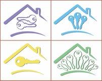 Logoer av stugor Royaltyfri Foto