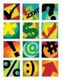 logoer för 1 affärssamling Arkivfoto