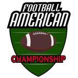 Logoer för amerikansk fotboll Fotografering för Bildbyråer