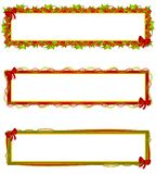 logoer för banerjuletiketter vektor illustrationer