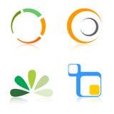 logoer för företagselementlogo Arkivbilder