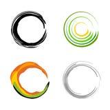 logoer för företagselementlogo Royaltyfri Fotografi