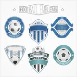 Logoer för fotbollslag Arkivbilder